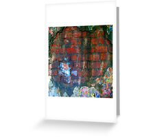 Brick Texture Greeting Card