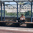At the bus shelter by awefaul