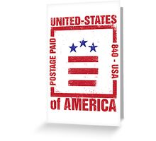 Postage Paid USA Greeting Card