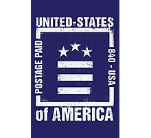 Postage Paid USA Photographic Print