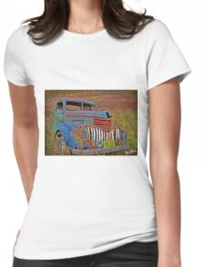 Ghost Truck Womens Fitted T-Shirt