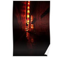 Chef in Chinese alley Poster