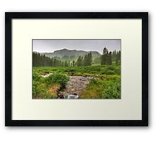 Yellow storm (HDR) Framed Print