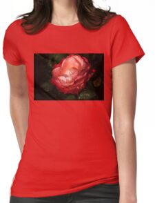 Chiaroscuro Rose – A Gift From My Mother's Garden Womens Fitted T-Shirt