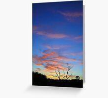 Sunrise in Australian Desert  Greeting Card
