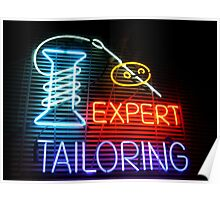 Expert Tailor Neon Sign Poster