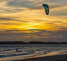 The Kite Surfer at Sunset by Nick Jenkins