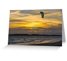 The Kite Surfer at Sunset Greeting Card