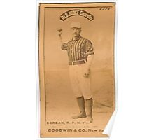 Benjamin K Edwards Collection Mike Dorgan New York Giants baseball card portrait 002 Poster