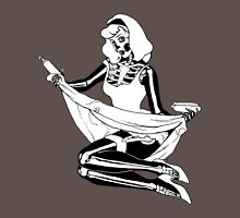Pin Up Skeleton Girl Womens Fitted T-Shirt