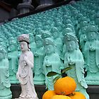 Buddhist offering to statues on Jeiju by AdamRussell