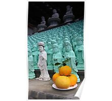 Buddhist offering to statues on Jeiju Poster