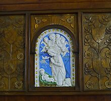 Cameo and carved panels, Abbey Church, Caboolture by Margaret  Hyde