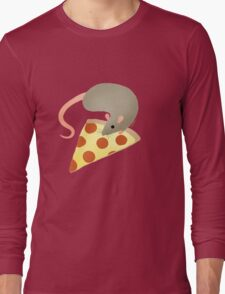 NYC Rats ❤︎ Pizza Long Sleeve T-Shirt