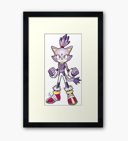 Sonic Boom: Blaze the Cat Framed Print