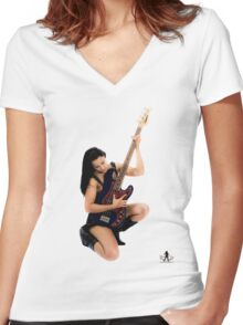 Rock 'n Roll Women's Fitted V-Neck T-Shirt