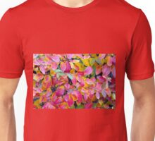 Selective focus on front leaves Unisex T-Shirt