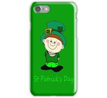 A Little Man Ready for St Patrick's Day iPhone Case iPhone Case/Skin