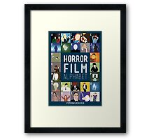 Horror Film Alphabet Framed Print