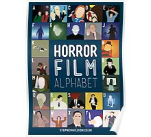 Horror Film Alphabet Poster