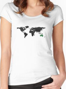 Global super power  Women's Fitted Scoop T-Shirt