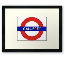Doctor Who Gallifrey Tube Symbol Framed Print