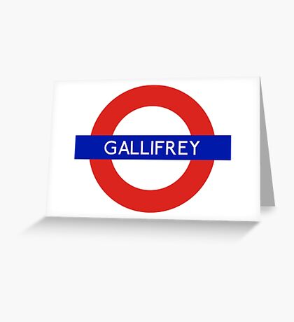 Doctor Who Gallifrey Tube Symbol Greeting Card