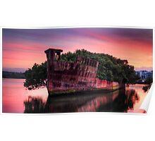 Shipwreck in Homebush Bay Poster