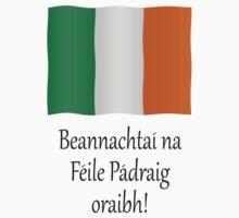 Beannachtaí na Féile Pádraig oraibh Kids Clothes