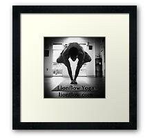 Lifting Crow , logo Framed Print