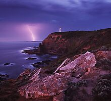 Approaching Storm - Cape Schanck Lighthouse by Mark Shean