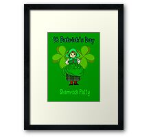 Shamrock Patty ready for St Patrick's Day Framed Print