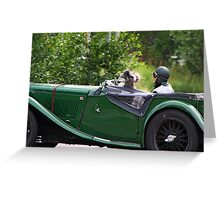 Oldtimer with Dogs Greeting Card