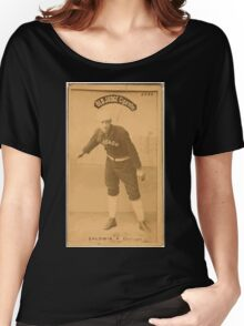 Benjamin K Edwards Collection Mark Baldwin Chicago White Stockings baseball card portrait Women's Relaxed Fit T-Shirt