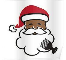 Black Santa Poster