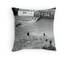 BW Clovelly Harbour Throw Pillow