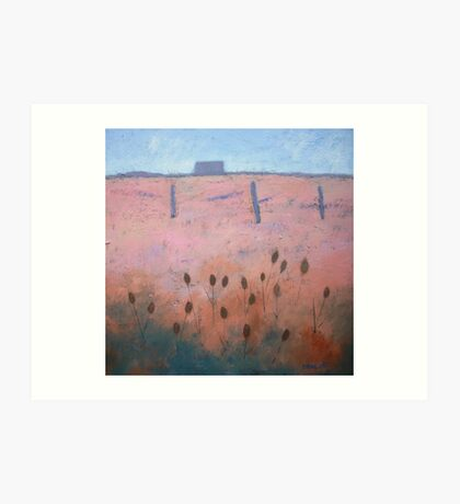 Acrylic on canvas Coastal painting, Rye Art Print