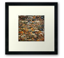 Stacked Stone Texture Framed Print