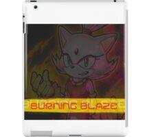 Blaze the Cat: Burning Blaze iPad Case/Skin