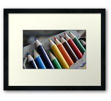 Pencil rainbow Framed Print