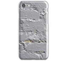 Fragment of a brick wall closeup with gray paint iPhone Case/Skin