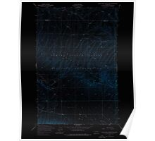 USGS Topo Map Washington State WA Black Rock Spring NW 240079 1953 24000 Inverted Poster