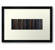 Moviebarcode: Captain America: The First Avenger (2011) Framed Print