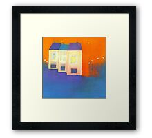 three houses Framed Print