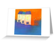 three houses Greeting Card