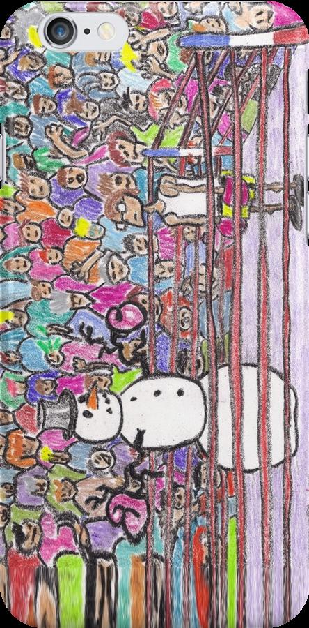 Snowman Boxing by DrewSomervell