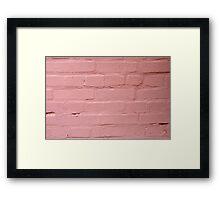 Fragment of a pink wall closeup Framed Print