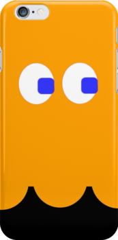 Pac-Man Ghost iphone orange by Margaret Bryant