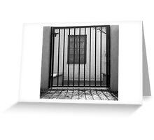 Window Jail Greeting Card