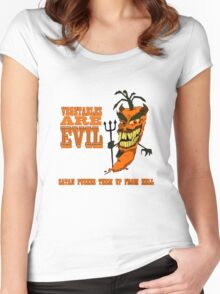 Vegetables are PURE EVIL! Women's Fitted Scoop T-Shirt